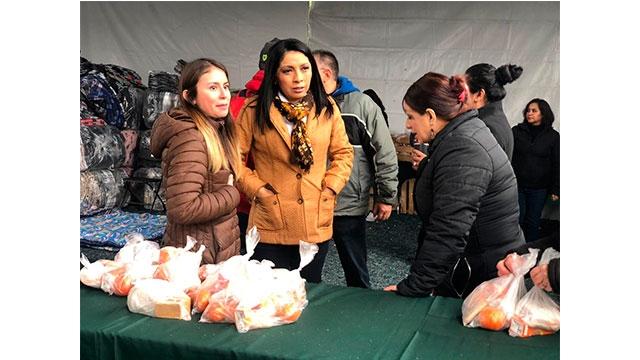 La Directora General del Sistema DIF de la Ciudad de México, Esthela Damián Peralta, supervisó y coordinó las acciones que la institución brindó a los peregrinos