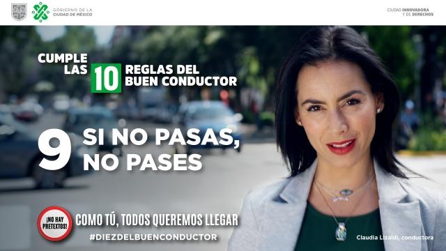 Regla #9 Decálogo del Buen Conductor: Si no pasas, no pases.